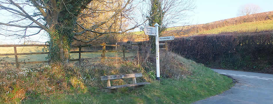 Country signpost in the Parish